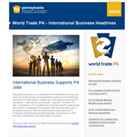 August World Trade PA Newsletter Thumbnail