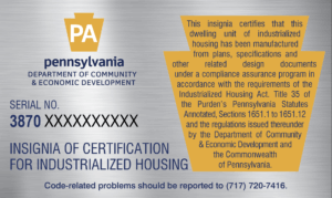 Pennsylvania Insignia of Certification