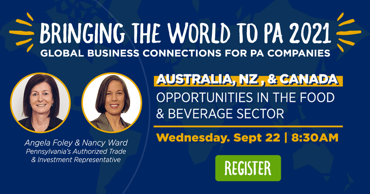 Australia, New Zealand and Canada: Opportunities in the Food & Beverage Sector
