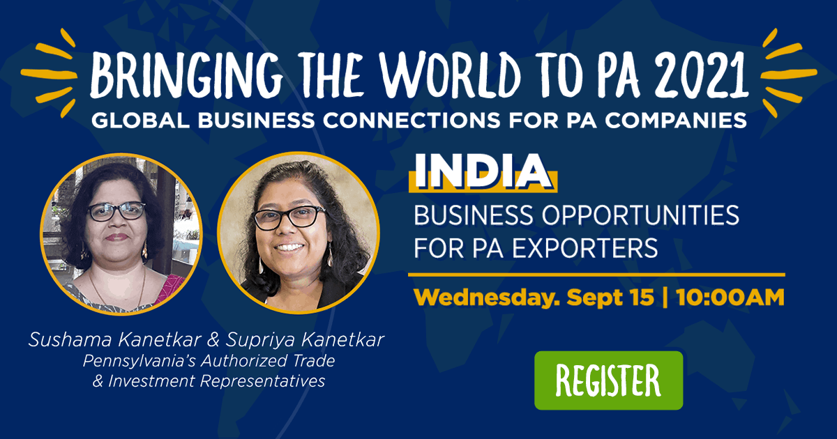 India: Business Opportunities for PA Exporters