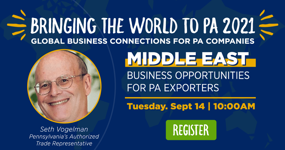 Middle East Region: Business Opportunities for PA Exporters